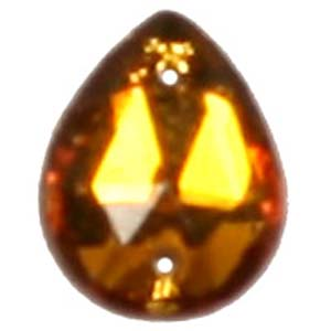 ES12-1&nbsp;glass embroidery stone  - topaz