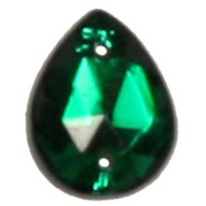 ES12-3 glass embroidery stone  - emerald