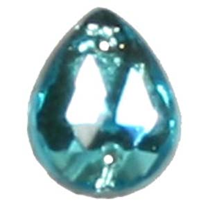 ES12-4&nbsp;glass embroidery stone  - aqua