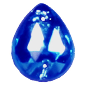 ES12-5&nbsp;glass embroidery stone  - sapphire