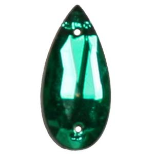 ES13-3&nbsp;glass embroidery stone  -emerald
