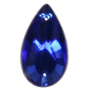 ES14-5&nbsp;glass embroidery stone  -sapphire