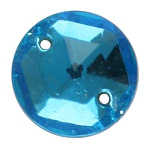 ES1-4 glass embroidery stone  - aquamarine