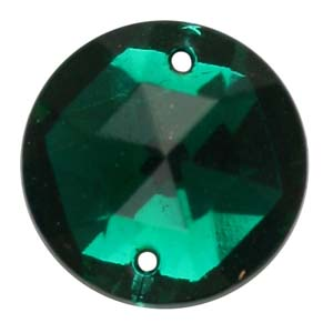 ES1-3glass embroidery stone  - emerald
