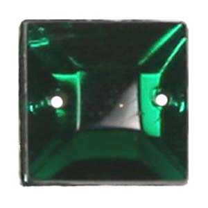 ES9-3 glass embroidery stone  -emerald
