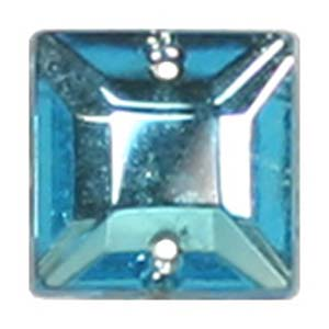 ES9-4 glass embroidery stone  -aqua