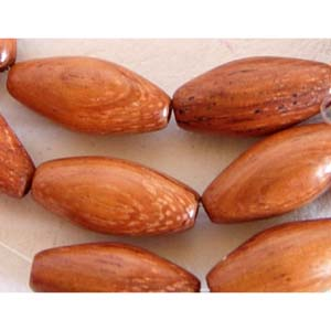 EWO20-B Exotic wooden beads, oval - bayong