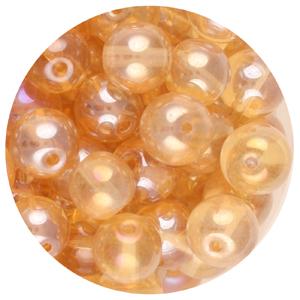 GB240L-15pressed lustre glass beads - light colorado topaz