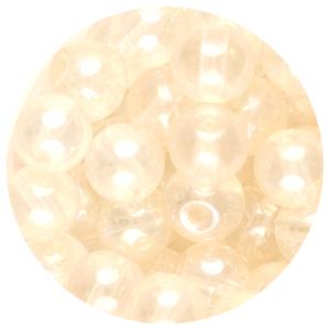 GB240L-1pressed lustre glass beads - crystal