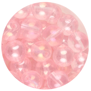 GB240L-2 pressed lustre glass beads - pink