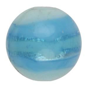 GB270-2Indian glass lamp bead, silver foiled round - aqua
