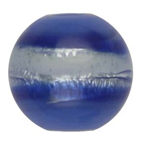 GB270-6Indian glass lamp bead, silver foiled round - blue