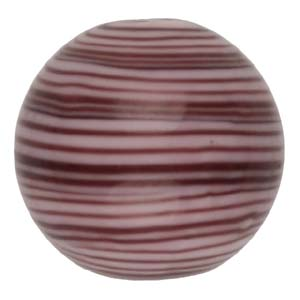 GB282-1 Indian glass lamp bead, stripey round - lilac