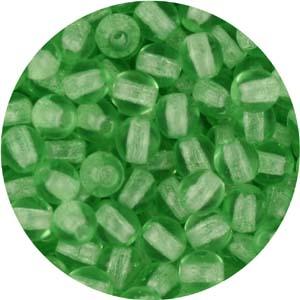 GB3-16 round pressed glass beads - peridot