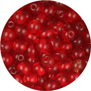 GB3-25 round pressed glass beads - siam ruby