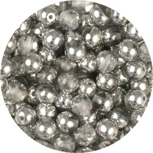 GB3-41 round pressed glass beads - crystal labrador