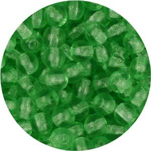 GB3-76 round pressed glass beads - green