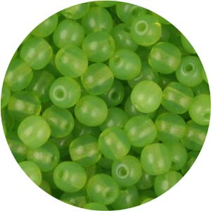GB3-79 round pressed glass beads - green opal