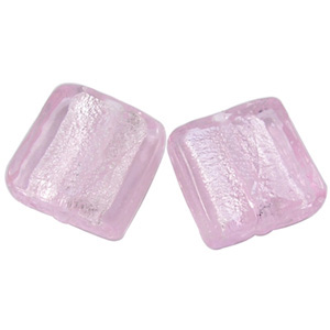 GBC3-7&nbsp;silver lined flat square -pink