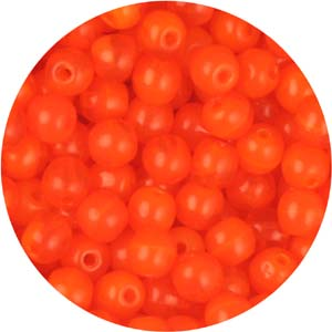 GB3-81 round pressed glass beads - orange opal