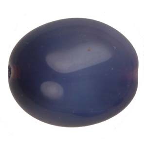 GB300 two-tone Czech oval pressed glass beads