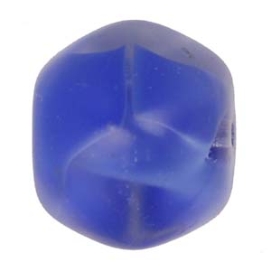 GB303&nbsp;two-tone Czech irregular pressed glass beads