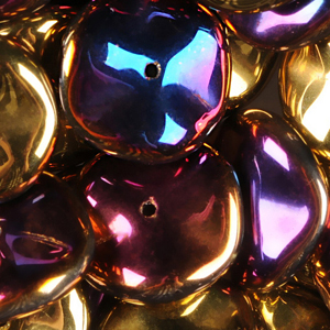 GBRPL-216 Czech ripple beads - crystal California violet