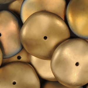 GBRPL-222M Czech ripple beads - crystal California sunshine matt