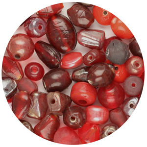 GBSM-3 small glass bead mix - red