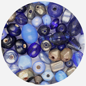 GBSM-6 small glass bead mix - royal blue