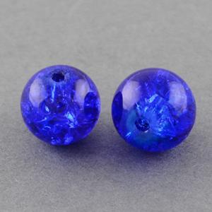 GCB08-14 glass crackle beads - royal
