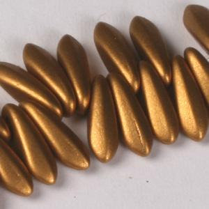 GP6-112 Czech pressed glass daggers - copper metallic