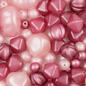 GPM-3 Czech Glass Pearls Mix - Pinks