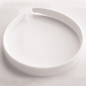 JF222 cotton covered plastic head bands - white
