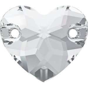 JS98S-1 Swarovski heart sew-on stone - crystal