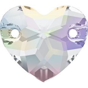 JS98S-2. Swarovski heart sew-on stone - crystal AB