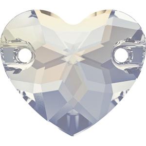 JS98S-63 Swarovski heart sew-on stone - white opal