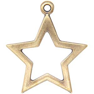 ME22 hollow star pendant