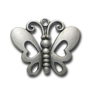 ME64-2 antique silver butterfly