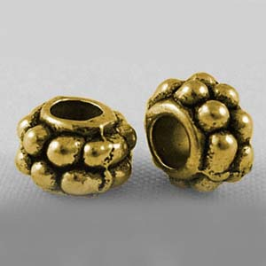 MEB6-1 metal bead - rondelle - gold