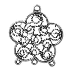 MEC10 flower pendant/connector