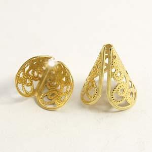 MEC4-1 bead cones - gold
