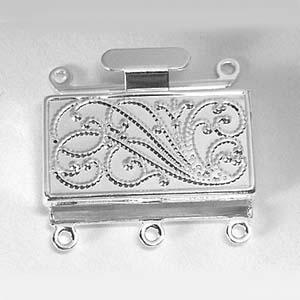 MEC54 rectangular 3-strand box clasp