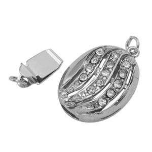MEC59 diamante oval box clasp