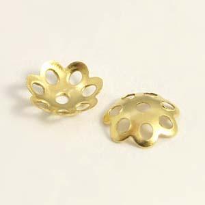 MEC66-1 bead caps - gold