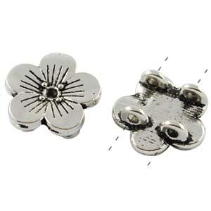 MEC842-hole metal spacers or connectors - flower