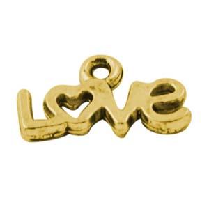 MEP56-1 LOVE charm - gold