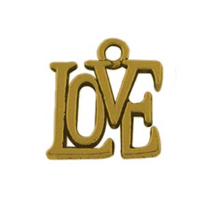 MEP68-1 LOVE charm/pendant - gold
