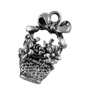 MEP73flower basket charm/pendant