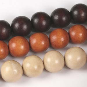 MS-DWR12 Multi-string: round wooden beads - mixed colours